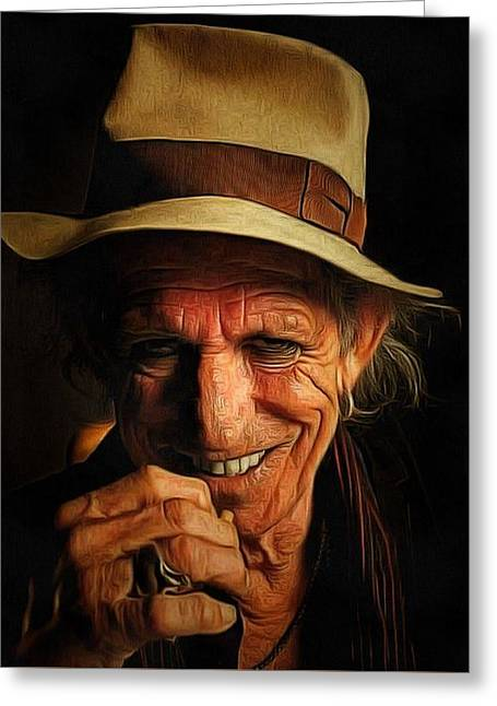 Keith Richards Portrait Greeting Card