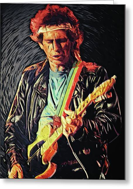 Keith Richards Greeting Card by Taylan Apukovska