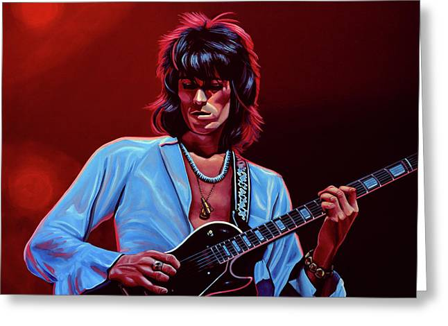 Keith Richards The Riffmaster Greeting Card