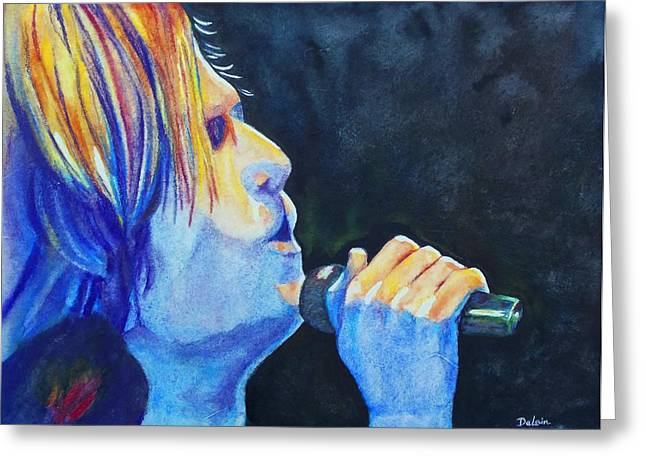 Greeting Card featuring the painting Keith Urban In Concert by Susan DeLain