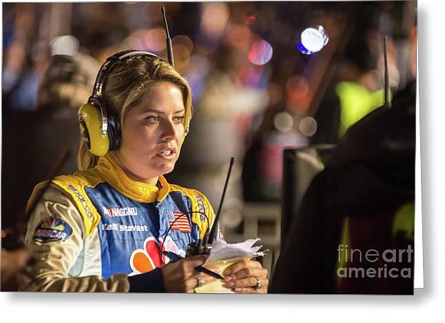 Kelli Stavast Reporting Greeting Card