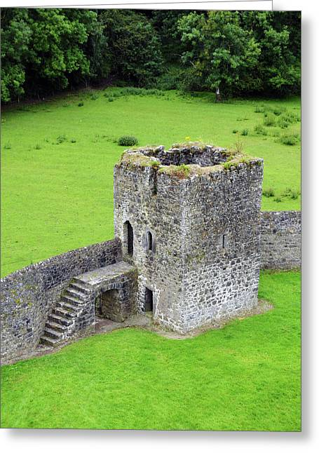 Kells Priory Outer Wall Fortified Tower County Kilkenny Ireland Greeting Card