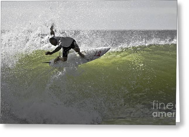 Kelly Slater At The Quicksilver Pro 2011 Greeting Card by Scott Evers