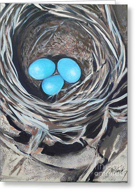 Kelly's Nest Greeting Card by Donna McLarty