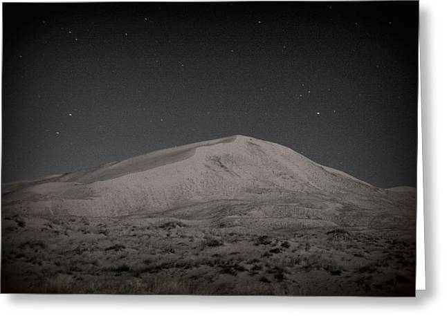 Kelso Dunes At Night Greeting Card by Nature Macabre Photography
