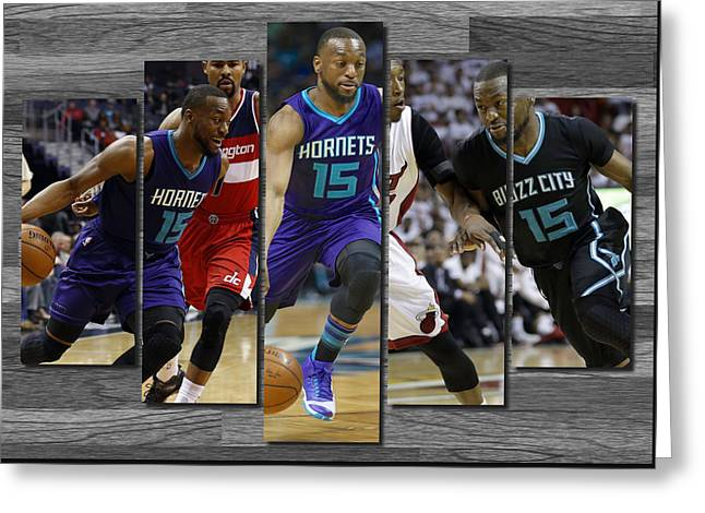 Kemba Walker Charlotte Hornets Greeting Card by Joe Hamilton