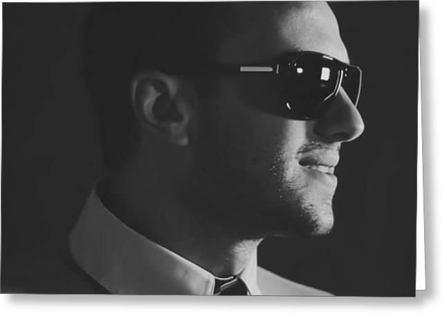 Ken Londoner - Black Background Greeting Card