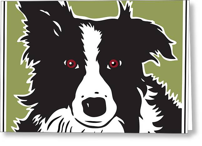 Kenai Border Collie Greeting Card