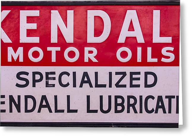 Kendall Motor Oils Sign Greeting Card