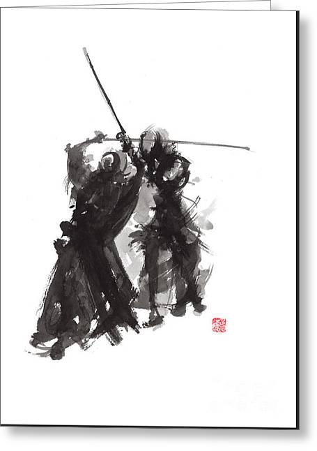Kendo Greeting Card by Mariusz Szmerdt
