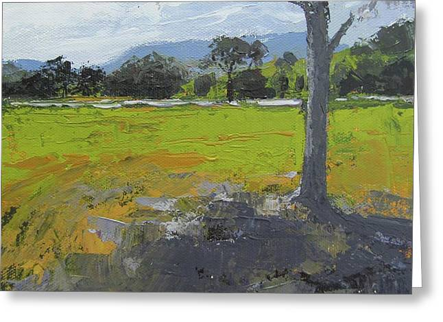 Greeting Card featuring the painting Kenilworth Landscape Queensland Australia by Chris Hobel