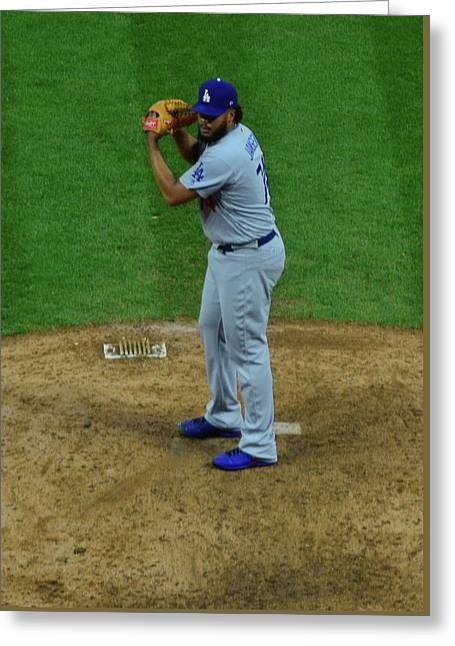 Kenley Jansen Greeting Card by Frozen in Time Fine Art Photography