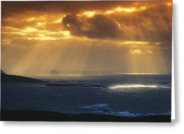 Panoramics Greeting Cards - Kenmare Bay, Dunkerron Islands, Co Greeting Card by The Irish Image Collection