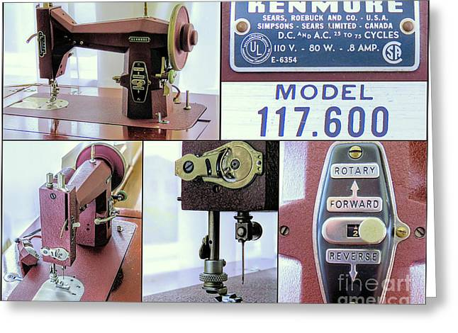 Kenmore Rotary Sewing Machine E6354 Model 117 600  Greeting Card