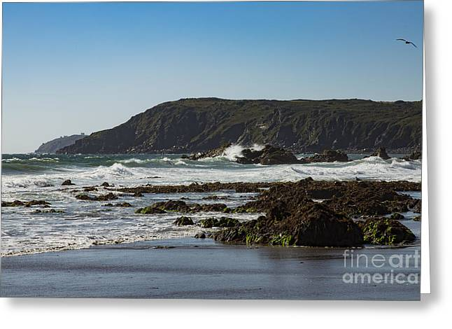 Greeting Card featuring the photograph Kennack Sands by Brian Roscorla