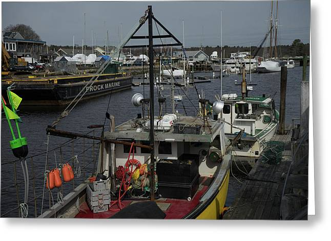 Kennebunkport Harbor In Early Winter Greeting Card