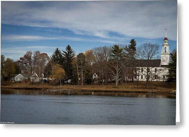 Kennebunkport Maine  Greeting Card by Debra Forand