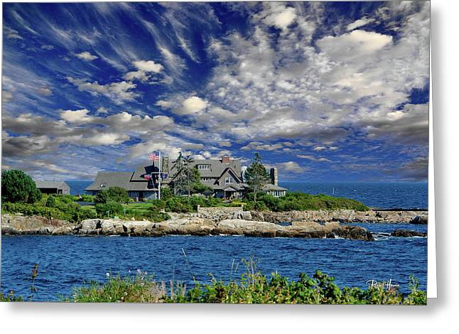 Kennebunkport, Maine - Walker's Point Greeting Card by Russ Harris
