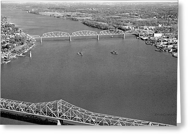 Kennedy Bridge Construction Greeting Card