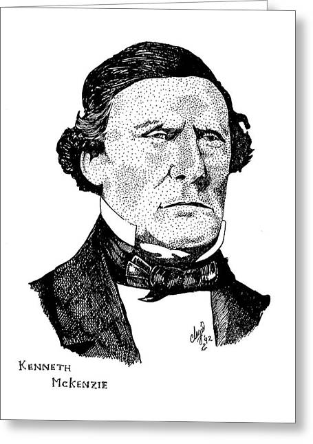 Kenneth Mckenzie Greeting Card by Clayton Cannaday