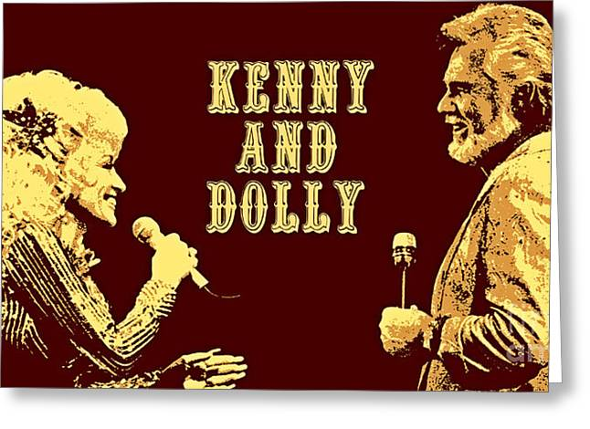 Kenny And Dolly Poster Greeting Card by Pd