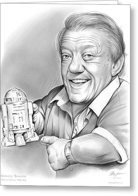 Kenny Baker R2d2 Greeting Card by Greg Joens