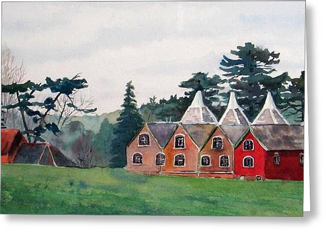 Kent Country Houses Greeting Card by Debbie Homewood