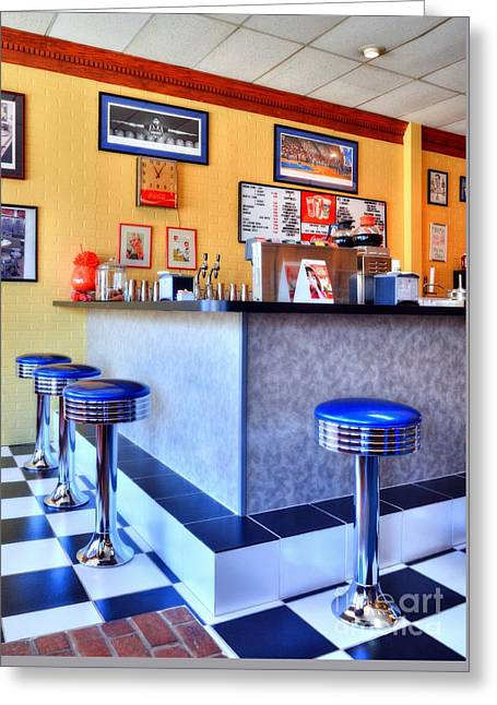 Kentucky Blue Diner Greeting Card