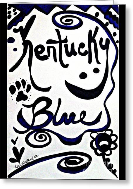 Greeting Card featuring the drawing Kentucky Blue by Rachel Maynard