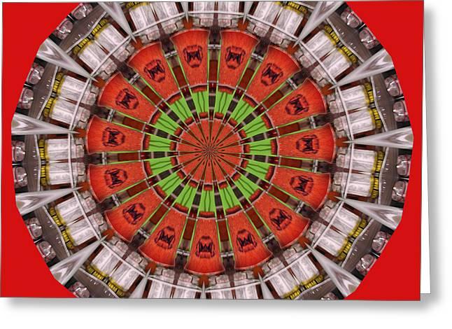 Kentucky Derby Glasses Kaleidoscope 1 Greeting Card