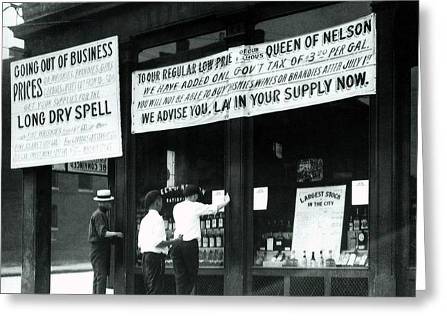Kentucky Goes Dry - Prohibition  1920 Greeting Card