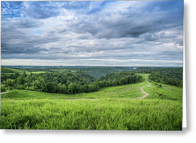 Kentucky Hills And Clouds Greeting Card