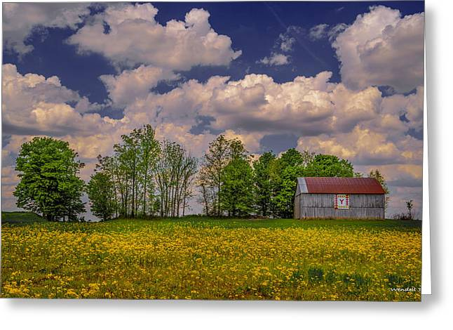 Kentucky Quilt Barn Greeting Card by Wendell Thompson