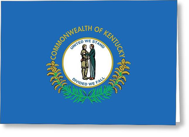 Kentucky State Flag Greeting Card by American School