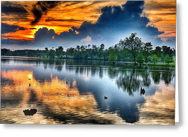 Kentucky Sunset June 2016 Greeting Card by Sumoflam Photography