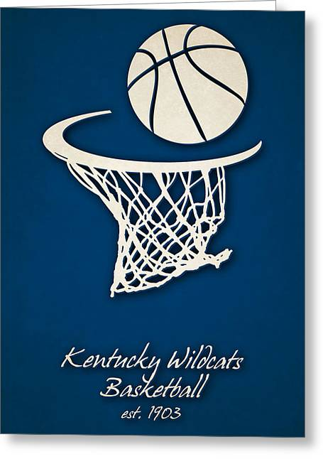 Kentucky Wildcats Basketball Greeting Card by Joe Hamilton