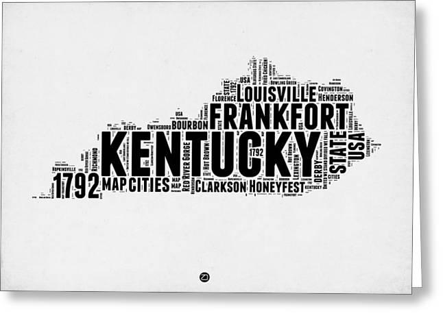 Kentucky Word Cloud Map 2 Greeting Card