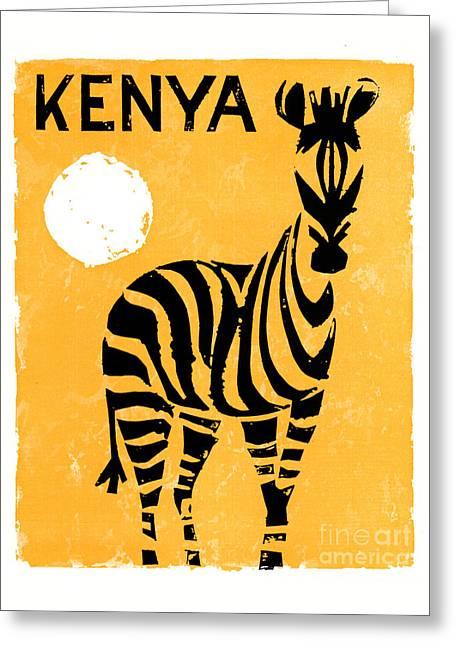 Kenya Africa Vintage Travel Poster Restored Greeting Card