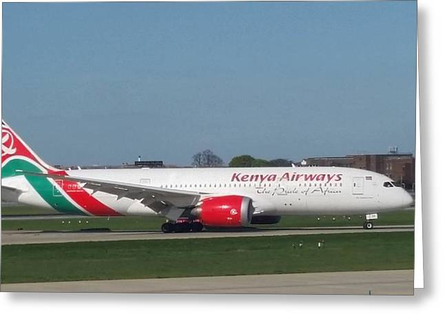 Kenya Airways Boeing 787 Greeting Card