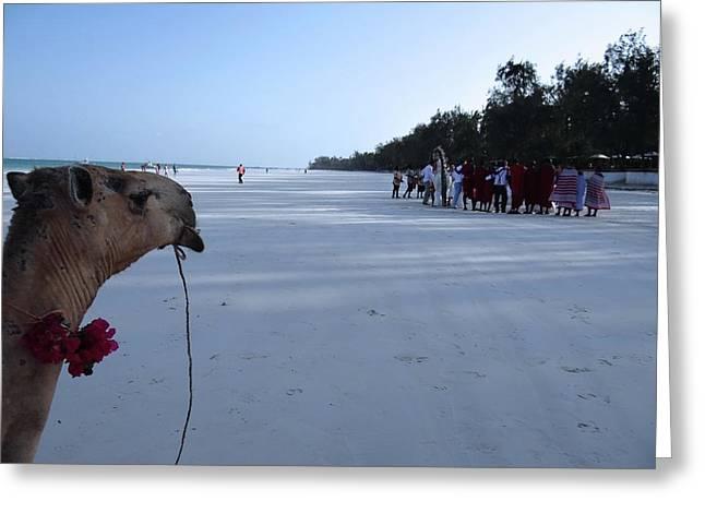 Kenya Wedding On Beach Distance Greeting Card
