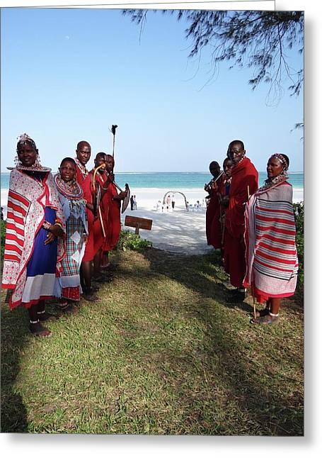 Kenya Wedding On Beach Maasai Bridal Welcome Greeting Card