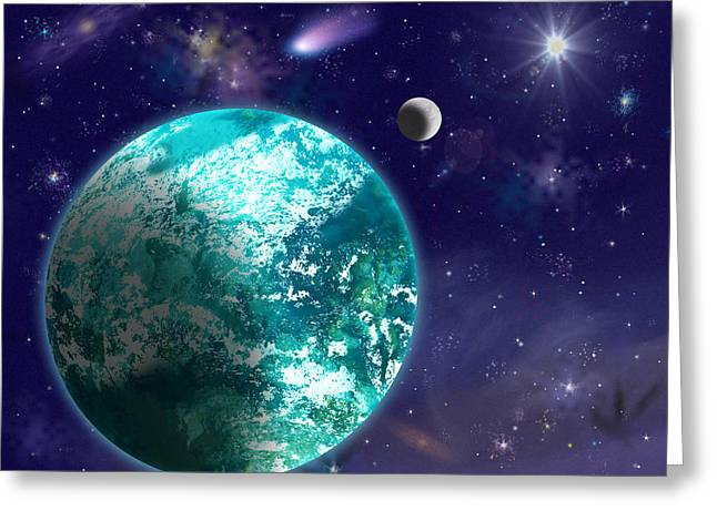 Kepler-22b New Earth Greeting Card by Laurel Nendza