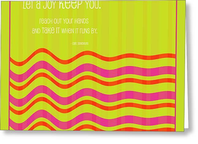 Kept By Joy Greeting Card by Bonnie Bruno