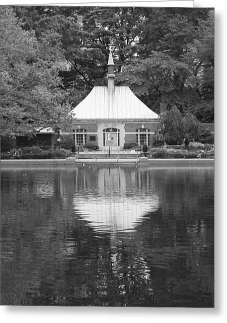 Kerbs Boathouse Central Park Greeting Card