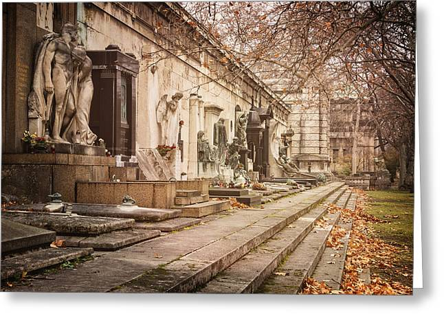 Kerepesi Cemetery Budapest Greeting Card by Joan Carroll