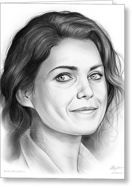 Keri Russell Greeting Card by Greg Joens