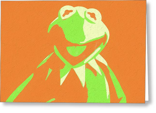 Kermit the frog greeting cards fine art america kermit the frog greeting card m4hsunfo