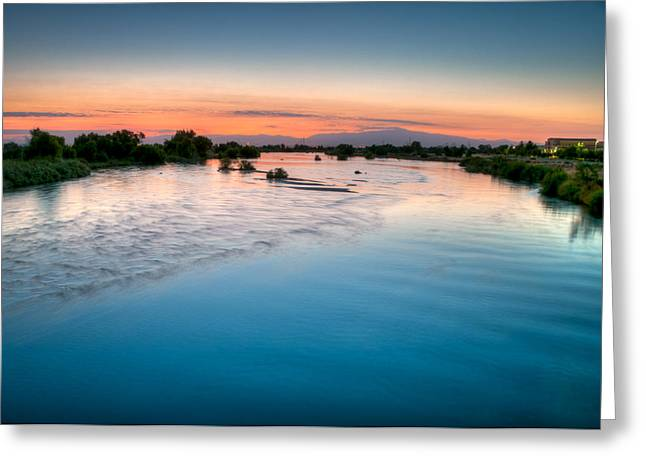 Kern River Sunrise Greeting Card