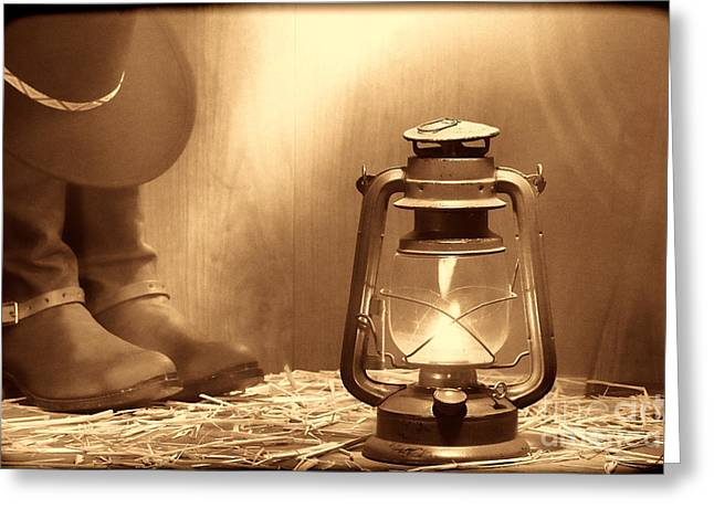 Kerosene Lamp Greeting Card