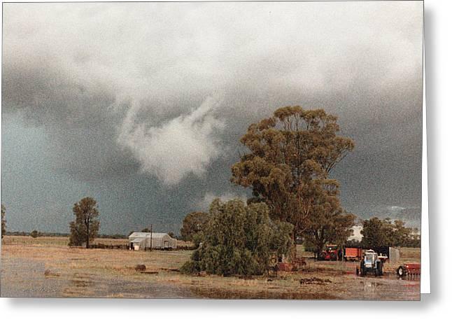 Kerula Storm  Greeting Card by Vicki Ferrari